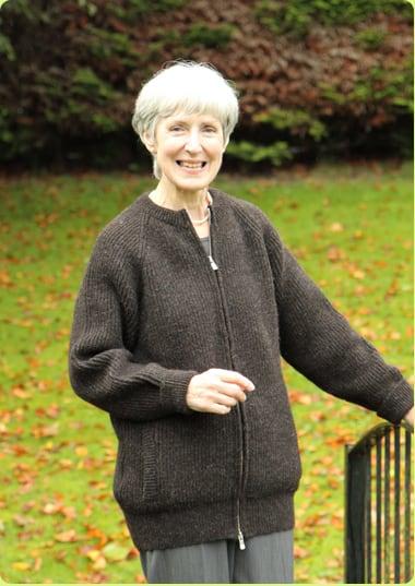 3ad1a8622cec Ladies Woolen Knitted Zip Jacket